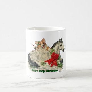 """Taza del Corgi de los """"Felices Navidad del Corgi"""""""