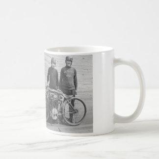 taza del corredor de la motocicleta de los años 30