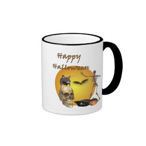 Taza del cráneo del feliz Halloween