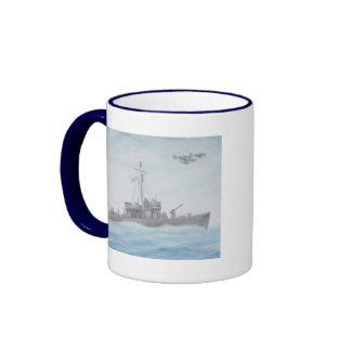 Taza del crucero de WWII pinta en azul