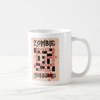 Taza del crucigrama del zombi