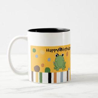 Taza del cumpleaños del Froggy de los peluches