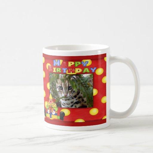 Taza del cumpleaños del gato de Bengala