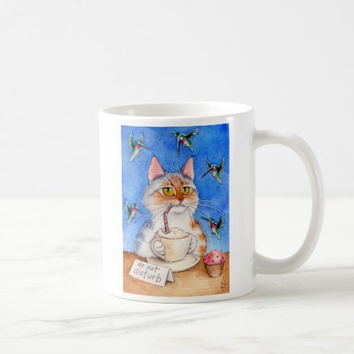 Taza del descanso para tomar café del gato