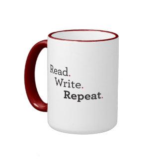 Taza del desván: Leído. Escriba. Repita