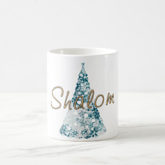 Taza del día de fiesta de Shalom