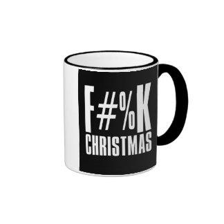 Taza del día de fiesta del navidad de F#%K