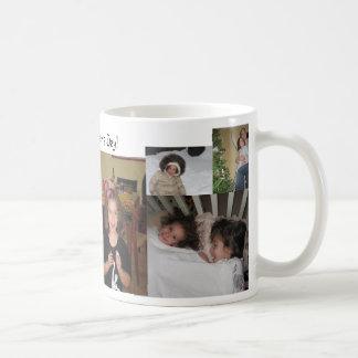 Taza del día de madre del collage de la foto