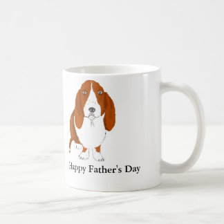 Taza del día de padre de Basset Hound