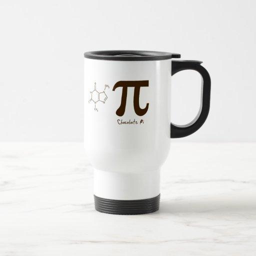 Taza del día del chocolate pi