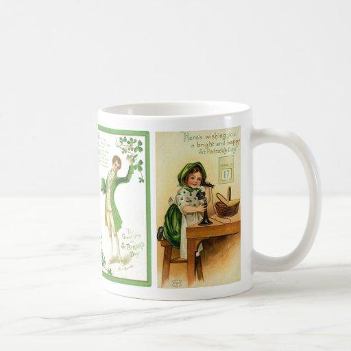 Taza del día del ST. Patricks del vintage