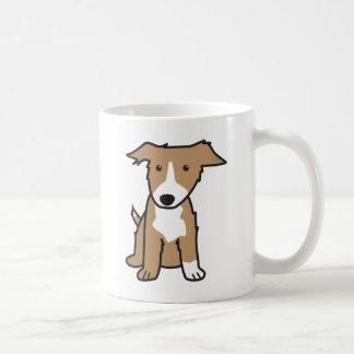 Taza del dibujo animado de la raza del perro del b