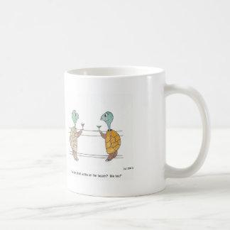 Taza del dibujo animado de la tortuga