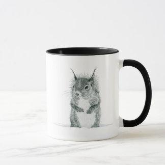 Taza del dibujo de la ardilla