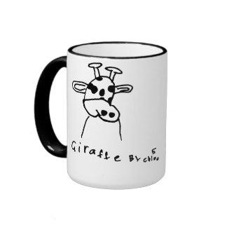 Taza del dibujo de la jirafa