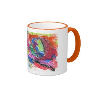 taza del dibujo del lirio