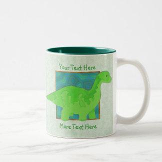 Taza del dinosaurio verde