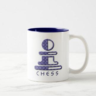 Taza del diseño del empeño del ajedrez