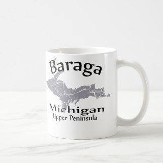 Taza del diseño del mapa de Baraga Michigan