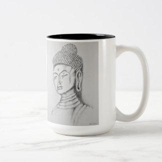 Taza del Dos-tono de Buda/de Namaste