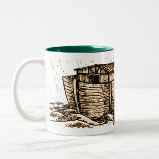 Taza del Dos-Tono de la arca de Noah