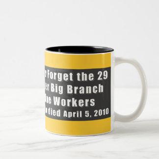Taza del Dos-Tono de los trabajadores de mina