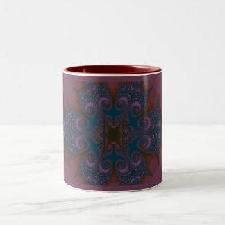 Taza del Dos-Tono del fractal de Paisley