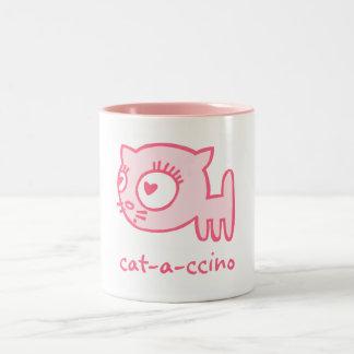 Taza del Dos-Tono del Gato-uno-ccino