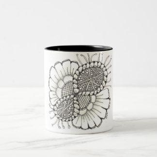Taza del Dos-Tono del girasol del zen