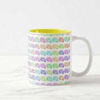 taza del Dos-Tono del Multi-gato del arco iris del