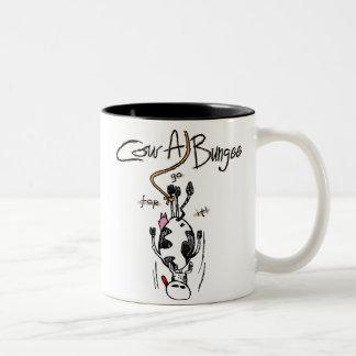 Taza del Dos-Tono del Vaca-UNO-Amortiguador