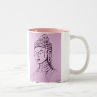 Taza del Dos-tono rosado de Buda/de Namaste