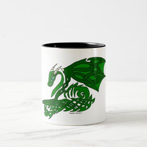 taza del dragón del Nudo-work