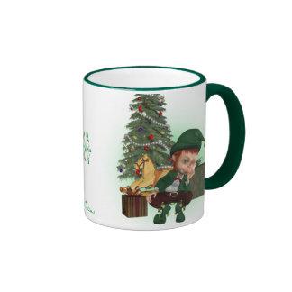 Taza del duende del navidad