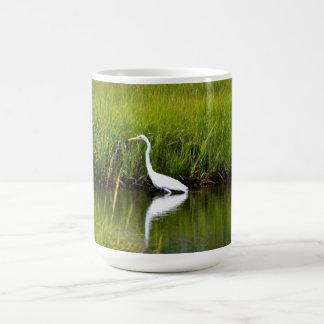 Taza del Egret nevado