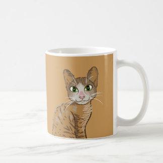 Taza del ejemplo del gato de Brown