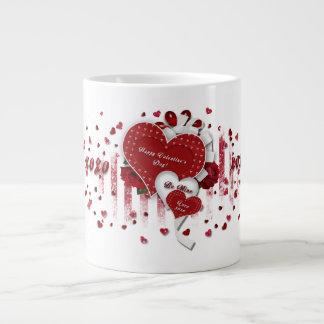 Taza del el día de San Valentín - corazones XOXO Taza Grande