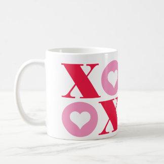 taza del el día de San Valentín del xoxo