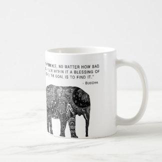 Taza del elefante de Buda de la sabiduría