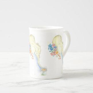 taza del elefante del bebé taza de porcelana