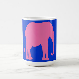 Taza del elefante rosado
