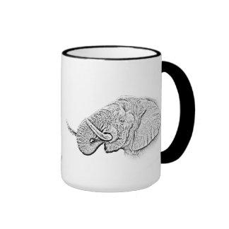 Taza del elefante - serie de África