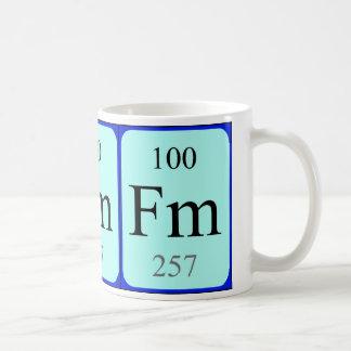 Taza del elemento 100 - fermio