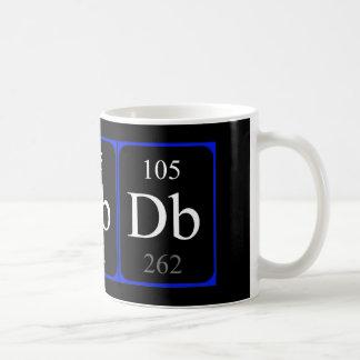 Taza del elemento 105 - Dubnium