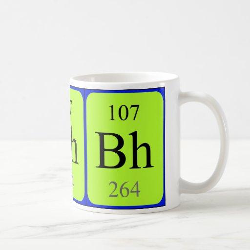 Taza del elemento 107 - Bohrium
