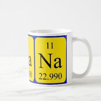 Taza del elemento 11 - sodio