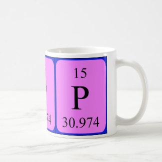 Taza del elemento 15 - fósforo