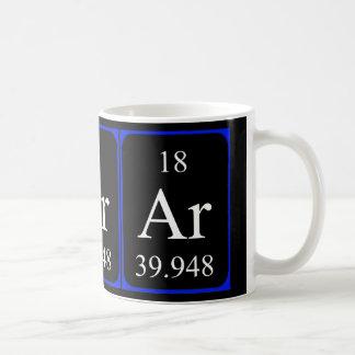 Taza del elemento 18 - argón