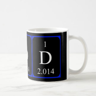 Taza del elemento 1a - deuterio