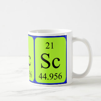 Taza del elemento 21 - escandio